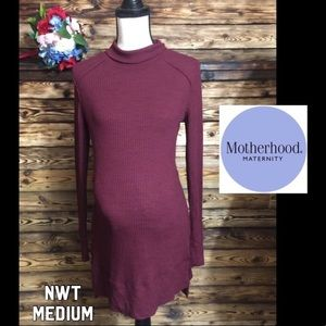 NWT Motherhood Wine Burgundy Ribbed Turtleneck M